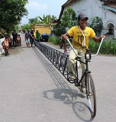 Самый длинный в мире велосипед