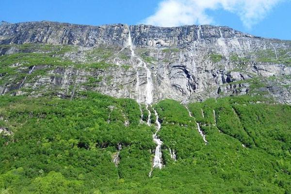 Самый высокий в Европе водопад Виннуфоссен