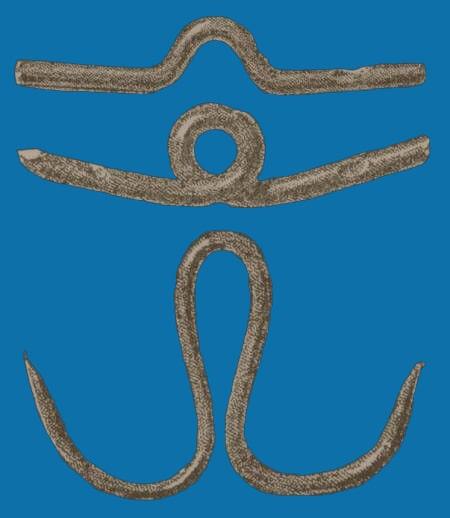 Древний Рыболовный крючок из металла